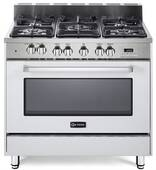 "VEFSGE365NW Verona 36"" Dual Fuel Single Oven Range - White"
