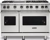 "VGR5486GSS Viking 48"" Professional 5 Series Freestanding 6 Sealed Burner Gas Range with VariSimmer Burner System and SureSpark  - Stainless Steel"
