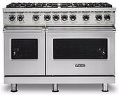 "VGR5488BSS Viking 48"" Professional 5 Series Freestanding 8 Sealed Burner Gas Range with TruPower Plus and SureSpark  - Stainless Steel"