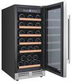 "WCF281E3SS Avanti 15"" 28 Bottle Designer Series Wine Chiller with Seamless Door and Soft Touch Electronic Display - Stainless Steel"