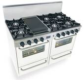 "WTN510-7W FiveStar Five Star 48"" Pro Style Gas Range with Open Burners - Natural Gas - White"