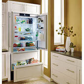 "HC2062 Liebherr 36"" Premium Plus Fully Integrated French Door Refrigerator with Icemaker - Custom Panel"