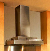 """CWLH9-136S Vent-A-Hood 36 """" Wide Contemporary Wall Mount Multi-Layered Hood (300 CFM) - Stainless Steel"""