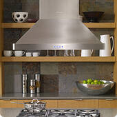 "DHI361 Dacor 36"" Heritage Collection Island Hood with 600 CFM Blower and Illuminated Control Panel - Stainless Steel"