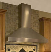 """EPH18-248SS Vent-A-Hood Euro Pro Series 18"""" x 48"""" x 24"""" Wall Mount Hood with Dual Blower (600 CFM) - Stainless Steel"""