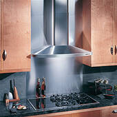 "RM524204 Broan Elite 42"" Wall Mount Chimney Hood with 370 CFM Internal Blower - Stainless Steel"