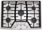 """LCG3011ST LG 30"""" Gas Cooktop with SuperBoil - Stainless Steel"""