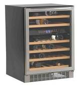 WCR5450DZ Avanti Built-In or Free Standing Dual Zone Wine Cooler with Reversible Glass Door - Black and Stainless Steel