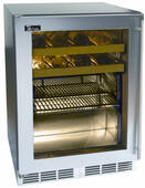 """HC24BB33L Perlick 24"""" Commercial Series Built-in Beverage Center with Stainless Steel Glass Door - Left Hinge"""