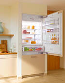 "KF1813Vi Miele Energy Star 30"" Bottom Mount Fully Integrated Refrigerator/Freezer Left Hinged - Custom Panel"