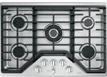 "CGP95302MS1 Cafe 30"" Built-In Gas Cooktop with 5 Sealed Burners and Dishwasher Safe Grates - Stainless Steel with Brushed Stainless Knobs"