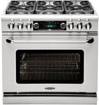 "CSB366L Capital 36"" Connoisseurian Dual Fuel Self-Clean Range with 6 Sealed Burners - Liquid Propane - Stainless Steel"