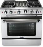 "GSCR364GL Capital 36"" Precision Pro Style Gas Convection Range 4 Burners & Griddle - Liquid Propane - Stainless Steel"
