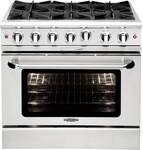 "MCOR366L Capital 36"" Culinarian Series Gas Manual Clean Range with 6 Open Burners - Liquid Propane - Stainless Steel"