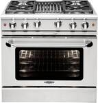 "MCR364BN Capital Precision Series 36"" Gas Range with 4 Power-Flo Burners & Hybrid Radiant BBQ Grill - Natural Gas - Stainless Steel"