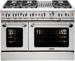 "MCR486BL Capital Precision Series 48"" Gas Range with 6 Power-Flo Burners & Hybrid Radiant BBQ Grill - Liquid Propane - Stainless Steel"