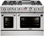 "MCR486GN Capital Precision Series 48"" Gas Range with 6 Power-Flo Burners & Thermo Griddle - Natural Gas - Stainless Steel"