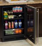 "ML24BRP3LP Marvel 24"" Beverage Center with 60/40 Split Convertible Shelf and MaxStore Utlity Bin - Left Hinge - Solid Custom Panel Ready Door"
