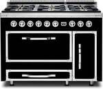 TVDR4806BGB Viking Tuscany 48 Inch Pro-Style Dual Fuel Range with Sealed Burners, 3.8 cu. ft. Convection Oven and 2.4 cu. ft. Side Swing Secondary Oven - Natural Gas - Graphite Black