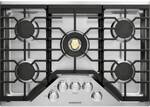"ZGU30RSLSS Monogram Monorgram 30"" Deep-Recessed Natural Gas Cook Top with Precision Knobs and TriRing Burner - Stainless Steel"