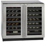 "3036WCWCS-13B U-Line 3000 Modular Series 36"" Wine Captain with Independently Controlled Dual Zones - Double Doors with Lock - Stainless Steel"