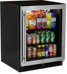 "MA24BCG1RS Marvel 24"" Low Profile ADA Height Beverage Center - Right Hinge - Stainless Steel & Glass"