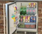 """MO24RAS2RS Marvel 24"""" Outdoor MaxStore Refrigerator - Right Hinge - Stainless Steel"""
