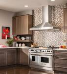 """WPP9E54SB Best Colonne 54"""" Stainless Steel Chimney Range Hood with a choice of Exterior or In-line Blowers - Stainless Steel"""