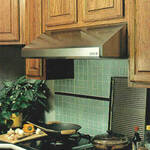 "SLH9-142SS Vent-A-Hood Emerald Series 9"" x 42"" x 21"" Under Cabinet Hood (300 CFM) - Stainless Steel"