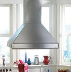 """ISDH18-236SS Vent-A-Hood 18"""" x 36"""" x 27"""" Euroline with Emerald Lip Island Hood with Dual Blower (600 CFM) - Stainless Steel"""