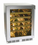 "HC24WB33L Perlick 24"" Commercial Series Built-in Wine Reserve with Stainless Steel Glass Door - Left Hinge"