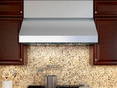 "AK7542BS Zephyr Power Tempest II 42"" Wall Mount Range Hood with 650 CFM Blower - Stainless Steel"