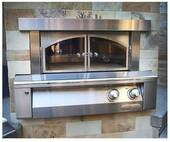 """AXEPZABING Alfresco 30"""" Built-In Pizza Oven - Natural Gas - Stainless Steel"""