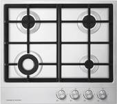 """CG244DLPX1N Fisher & Paykel 24"""" Gas Cooktop with 4 Burners Including Mini Wok Burner - Stainless Steel"""