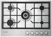 """CG305DLPX1N Fisher & Paykel 30"""" Gas Cooktop with 5 Burners and Easy Clean - Stainless Steel"""