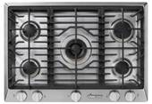 "HCT305GSLP Dacor 30"" Heritage Collection 5 Burner Liquid Propane Gas Cooktop with PermaClean Bead Blasted Finish and Simmer Sear Burners - Stainless Steel"