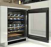 "KWT6322UG Miele 24"" Undercounter Wine Storage Refrigerator with Room for Up To 34 Bottles - Stainless Steel -OPEN BOX"