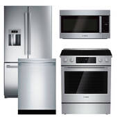 Package Bosch B3 - Bosch Appliance Package - 4 Piece Appliance Package with Electric Range - Stainless Steel