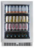 "SPRBC056D1SS Danby 24"" Silhouette Saxony Single Zone Beverage Center with 126 Can and 6 Bottle Capacity - Stainless Steel"