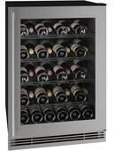 """UHWC024SG01A U-Line U-line 24"""" Wine Captain 1 Class Series with Reversible Hinge - Stainless Steel"""
