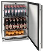 "UOKR124-SS01A U-Line 24"" Reversible Hinge Outdoor Keg Refrigerator with Bright White LED Lighting - Stainless Steel"