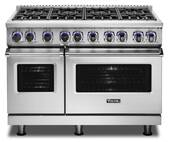 "VDR74828BSS Viking 48"" Professional 7 Series Dual Fuel Range with SureSpark Ignition System and Viking Elevation Burners - 8 Burners - Natural Gas  - Stainless Steel"