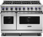 "VDR74828BSS Viking 48"" Professional 7 Series Dual Fuel Range with 8 Viking Elevation Burners - Natural Gas  - Stainless Steel"