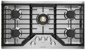 "ZGU36RSLSS Monogram Monorgram 36"" Deep-Recessed Natural Gas Cook Top with Precision Knobs and TriRing Burner - Stainless Steel"