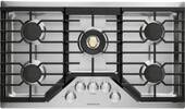 """ZGU36RSLSS Monogram Monorgram 36"""" Deep-Recessed Natural Gas Cook Top with Precision Knobs and TriRing Burner - Stainless Steel"""