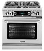 """COB304N Capital 30"""" Connoisseurian Dual Fuel Self-Clean Range with 4 Open Burners - Natural Gas - Stainless Steel"""