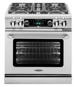 """CSB304N Capital 30"""" Connoisseurian Dual Fuel Self-Clean Range with 4 Sealed Burners - Natural Gas - Stainless Steel"""