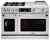 """CSB488N Capital 48"""" Connoisseurian Dual Fuel Self-Clean Range with 8 Sealed Burners - Natural Gas - Stainless Steel"""