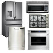 Package Dacor D3 - Dacor Appliance 5 Piece Kitchen Package with Cooktop + Oven - Stainless Steel
