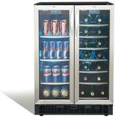 "DBC2760BLS Danby Silhouette Emmental 24"" Dual Zone Beverage Center with 2 Doors - Stainless Steel"
